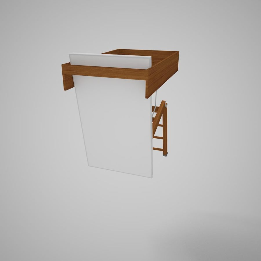 Stair Fakro LTK Thermo royalty-free 3d model - Preview no. 10