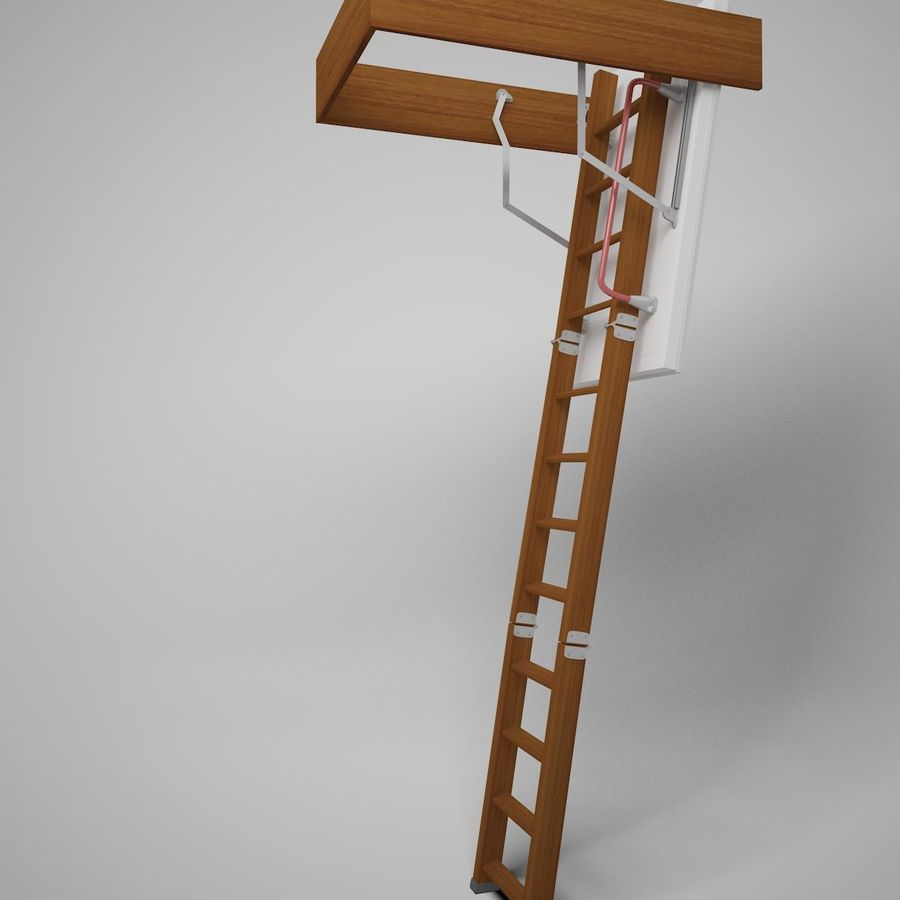 Stair Fakro LTK Thermo royalty-free 3d model - Preview no. 1