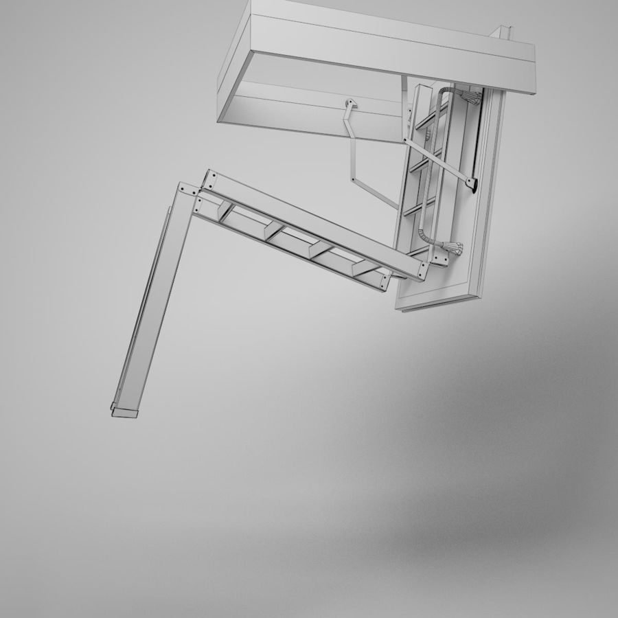 Stair Fakro LTK Thermo royalty-free 3d model - Preview no. 16