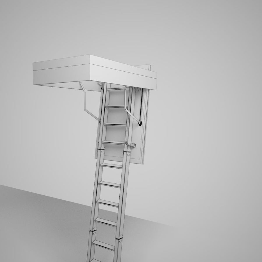 Stair Fakro LTK Thermo royalty-free 3d model - Preview no. 25