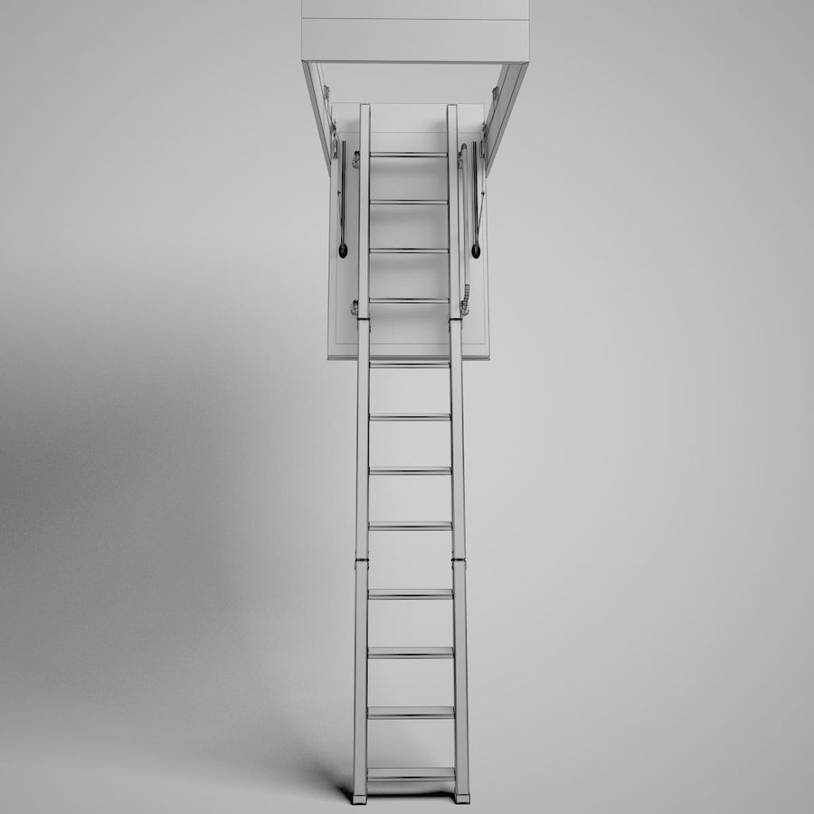 Stair Fakro LTK Thermo royalty-free 3d model - Preview no. 19