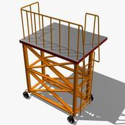Rolling Industrial Scaffolding 3d model