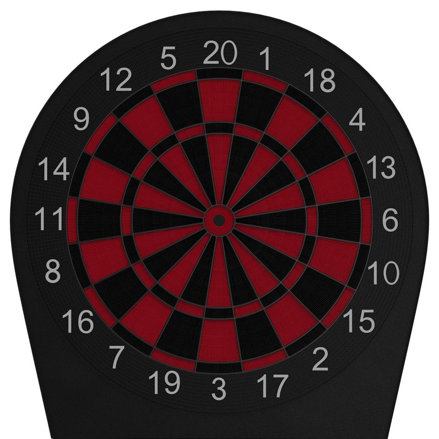 Electronic Dartboard royalty-free 3d model - Preview no. 9