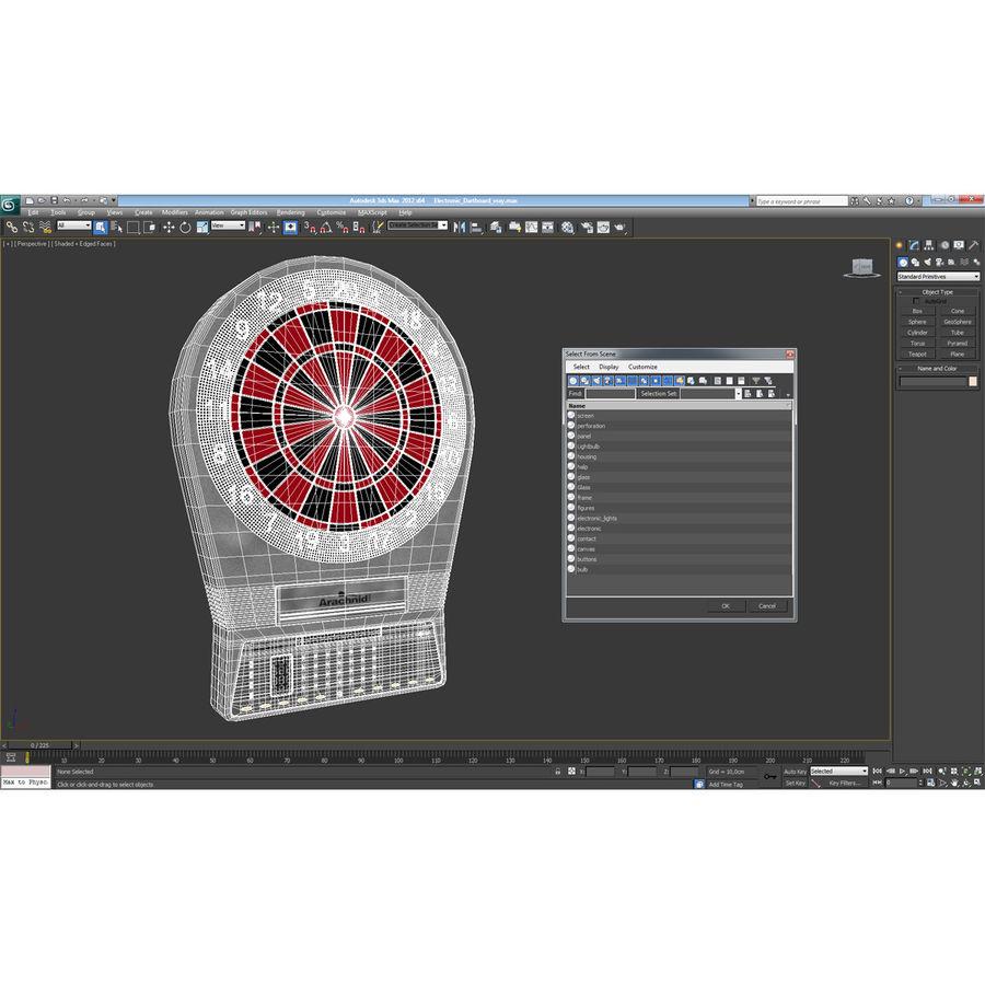 Electronic Dartboard royalty-free 3d model - Preview no. 16