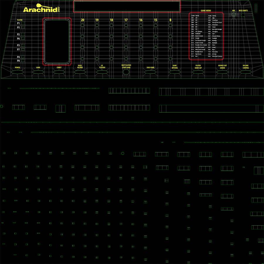 Electronic Dartboard royalty-free 3d model - Preview no. 13
