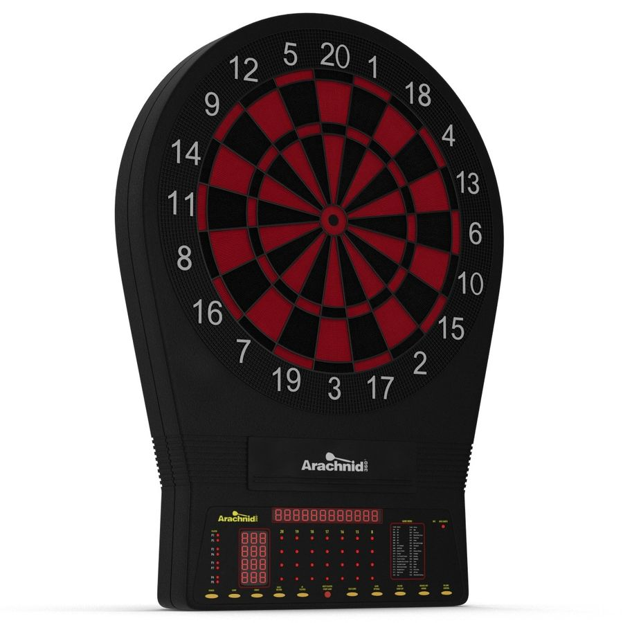 Electronic Dartboard royalty-free 3d model - Preview no. 4