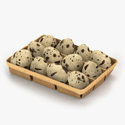 Яйцо перепелиная коробка 3d model