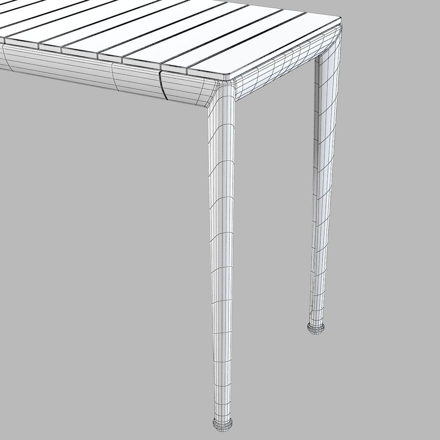 B&B Mitro Outdoor Dining Table royalty-free 3d model - Preview no. 7