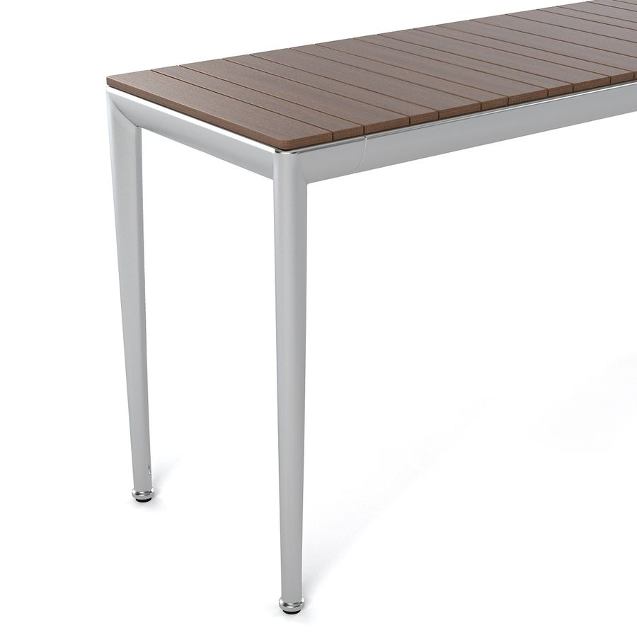 B&B Mitro Outdoor Dining Table royalty-free 3d model - Preview no. 3