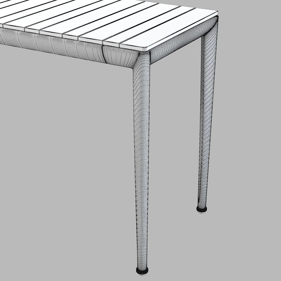 B&B Mitro Outdoor Dining Table royalty-free 3d model - Preview no. 5