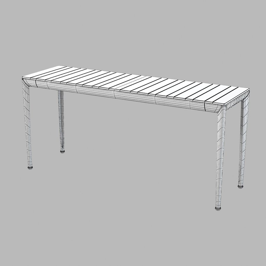 B&B Mitro Outdoor Dining Table royalty-free 3d model - Preview no. 6