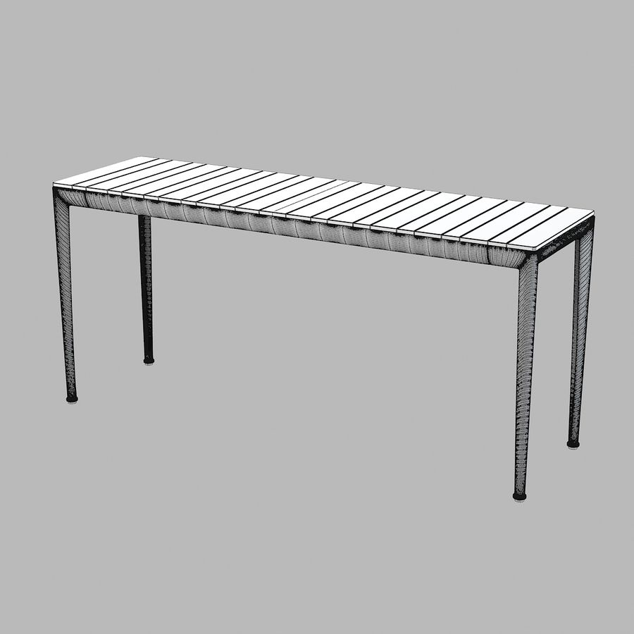 B&B Mitro Outdoor Dining Table royalty-free 3d model - Preview no. 4