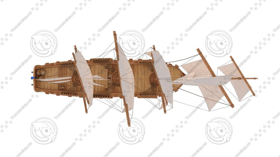 Rosyjski statek liniowy 1774 royalty-free 3d model - Preview no. 4