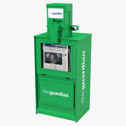 Newspaper Box Green 3D模型 3d model