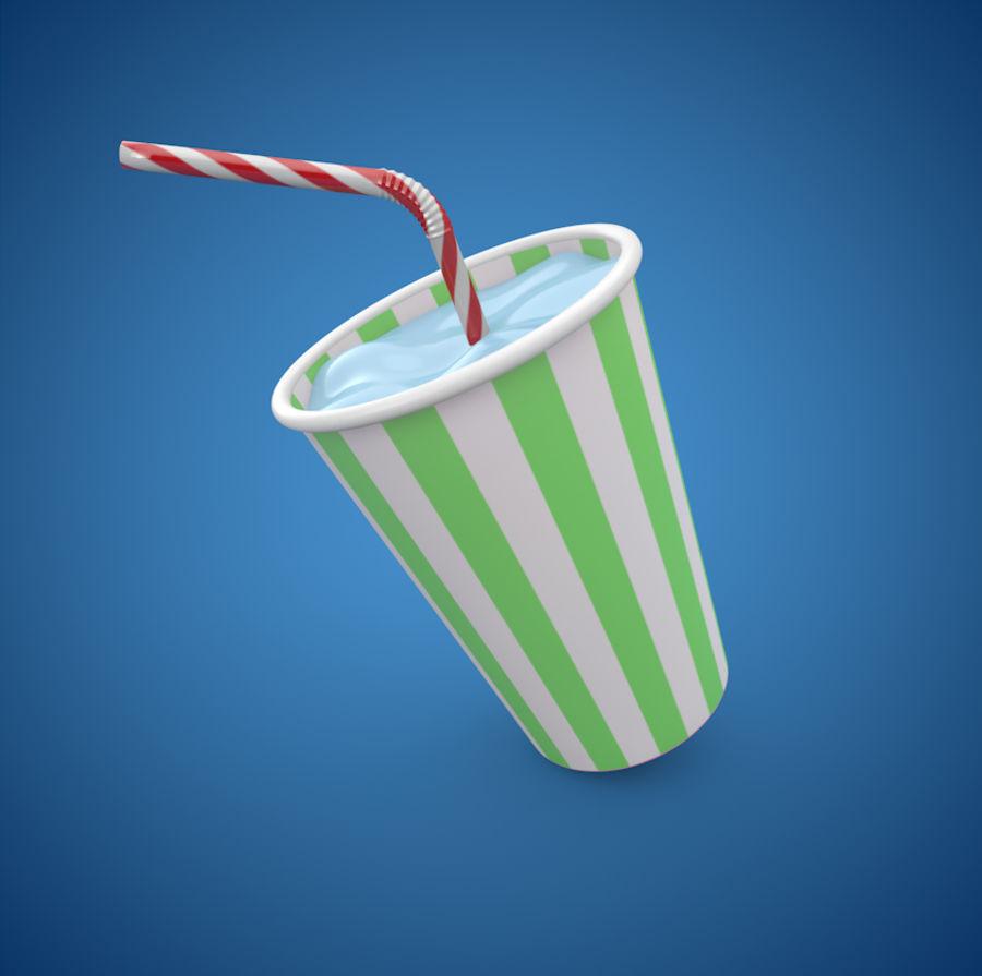 Milkshake royalty-free 3d model - Preview no. 1