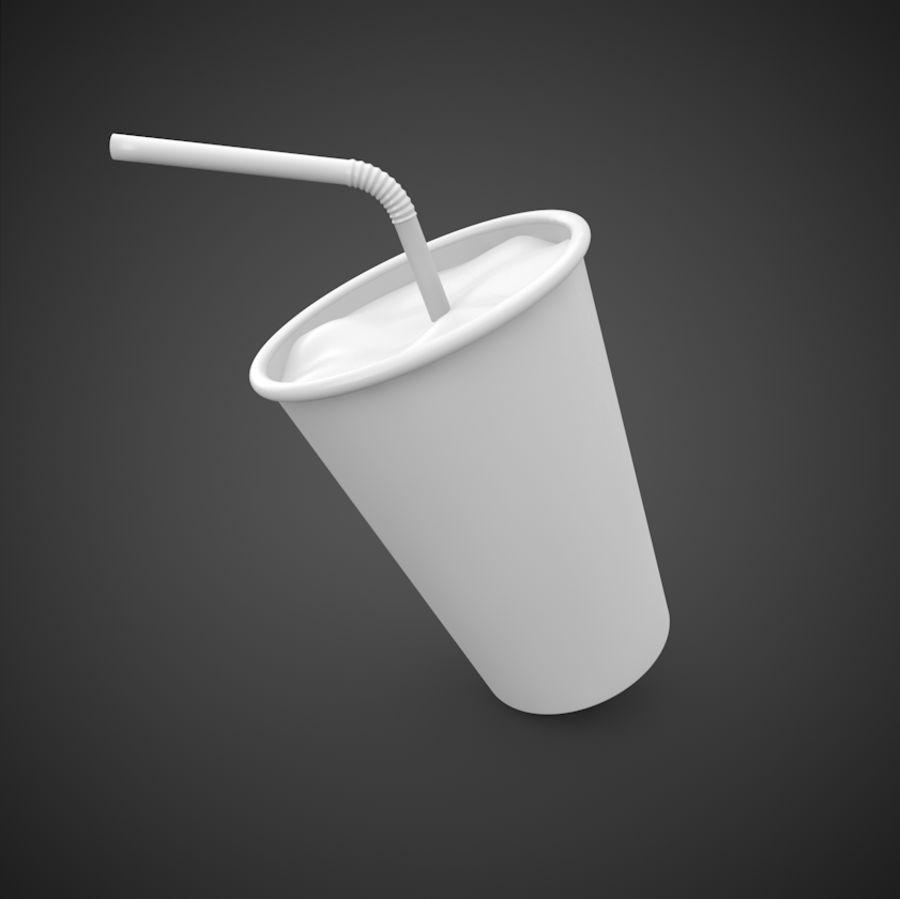 Milkshake royalty-free 3d model - Preview no. 4