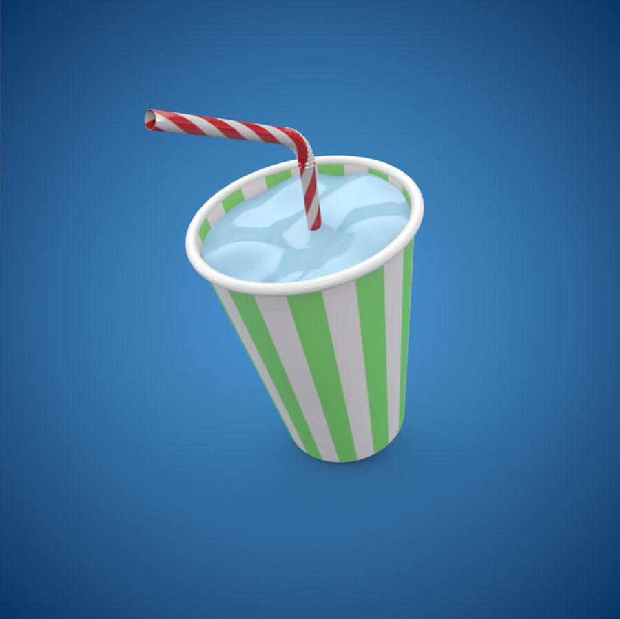 Milkshake royalty-free 3d model - Preview no. 3