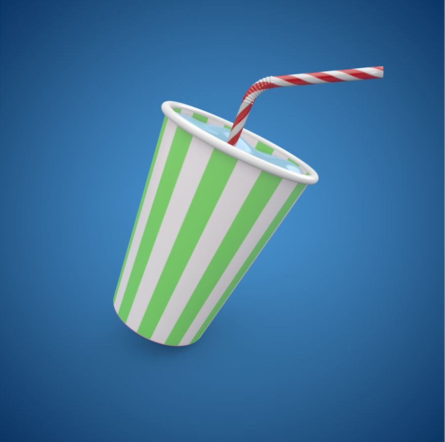 Milkshake royalty-free 3d model - Preview no. 2