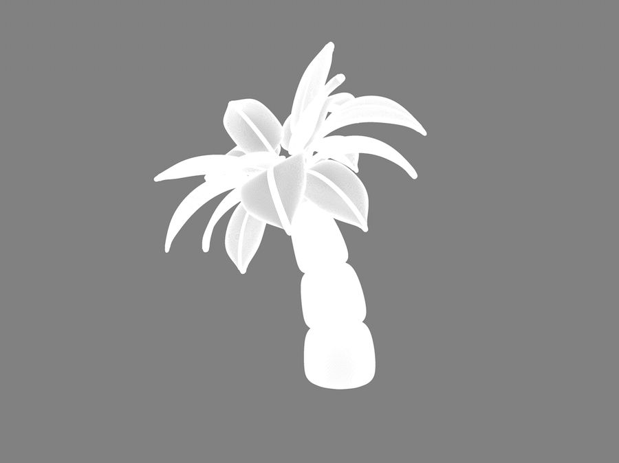 inflatable palm tree royalty-free 3d model - Preview no. 3