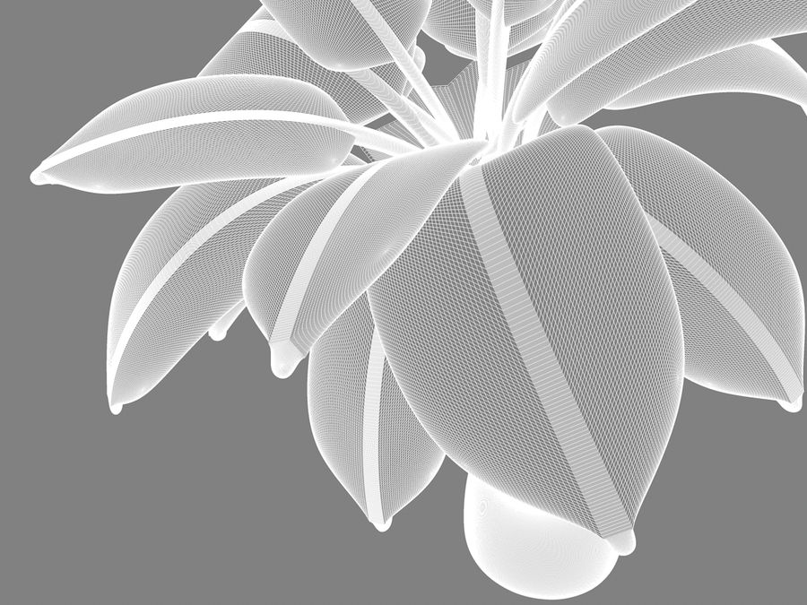 inflatable palm tree royalty-free 3d model - Preview no. 5