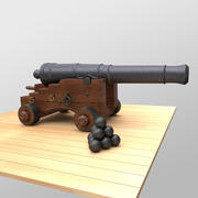 Age of Sail Naval Cannon 3d model
