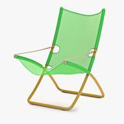 La sedia a sdraio Snooze verde 3d model