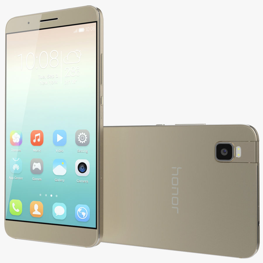 Huawei Honor 7i Gold royalty-free 3d model - Preview no. 1
