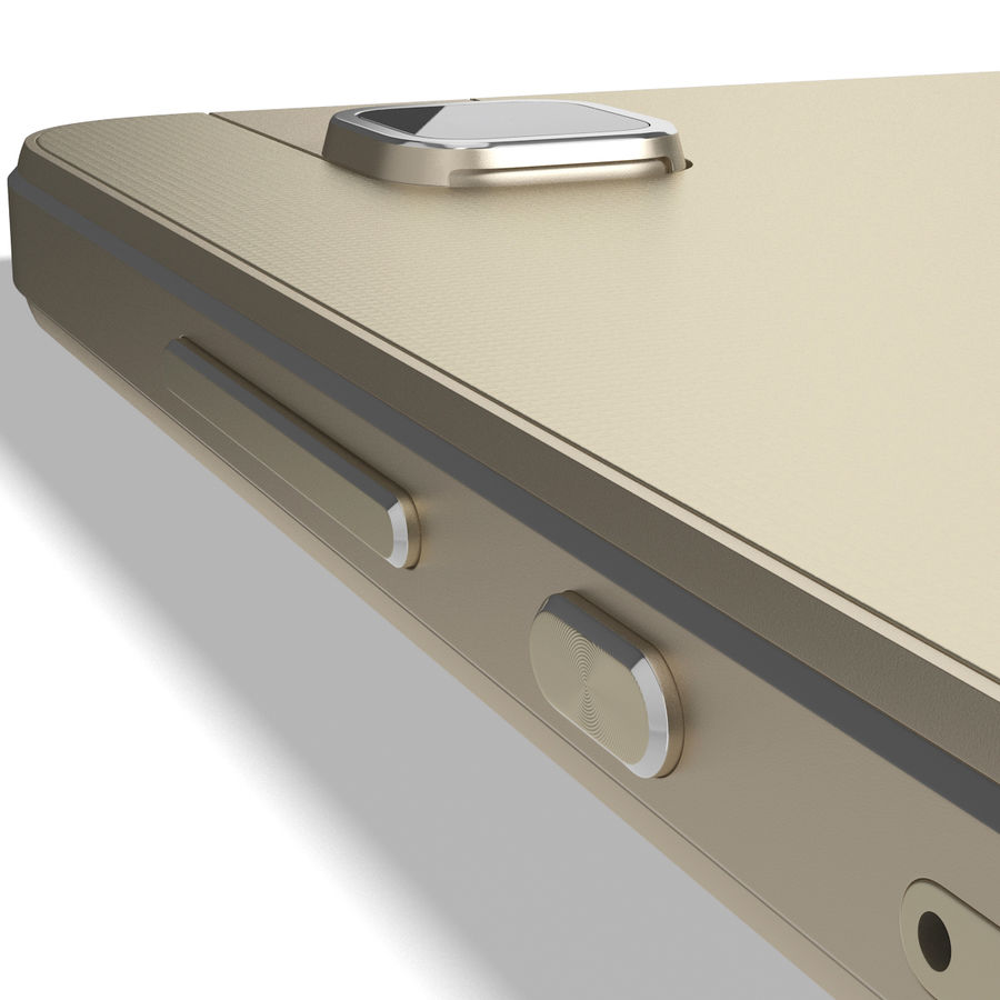Huawei Honor 7i Gold royalty-free 3d model - Preview no. 16