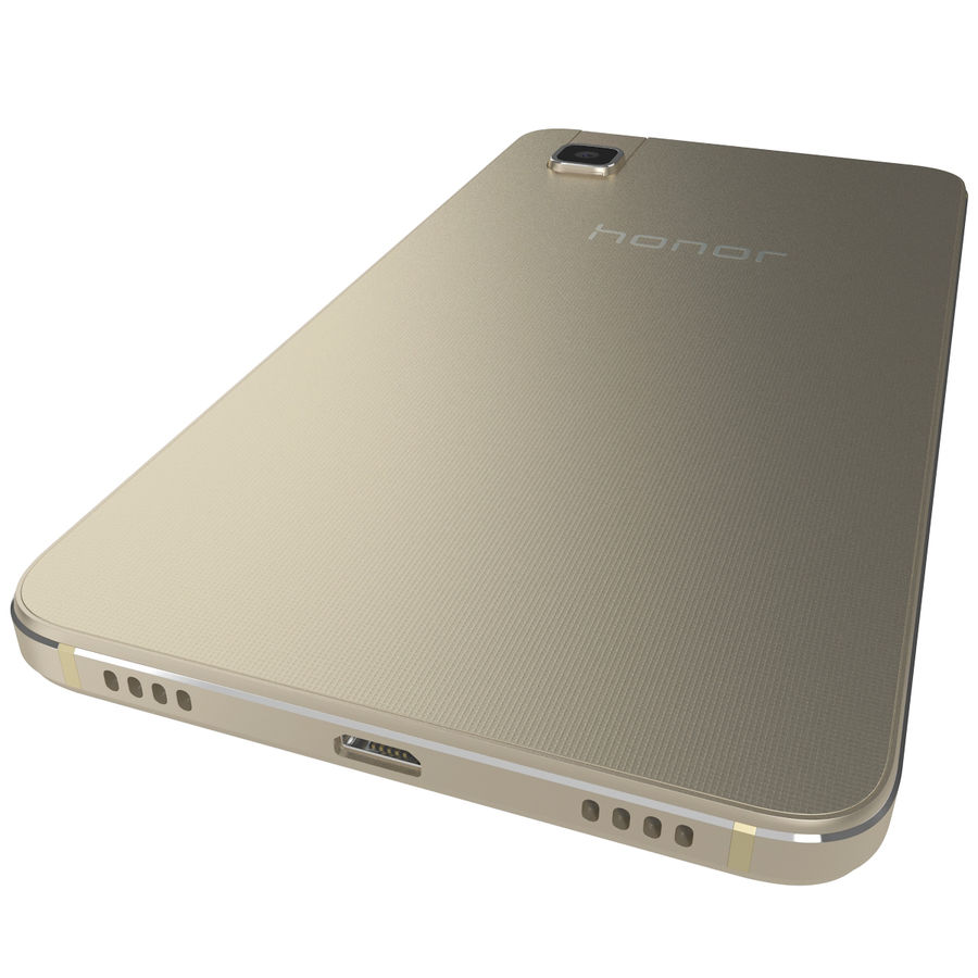 Huawei Honor 7i Gold royalty-free 3d model - Preview no. 11