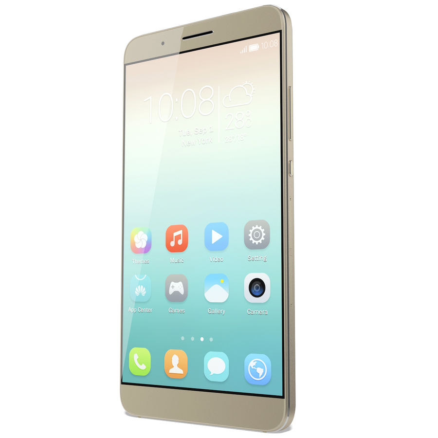 Huawei Honor 7i Gold royalty-free 3d model - Preview no. 5