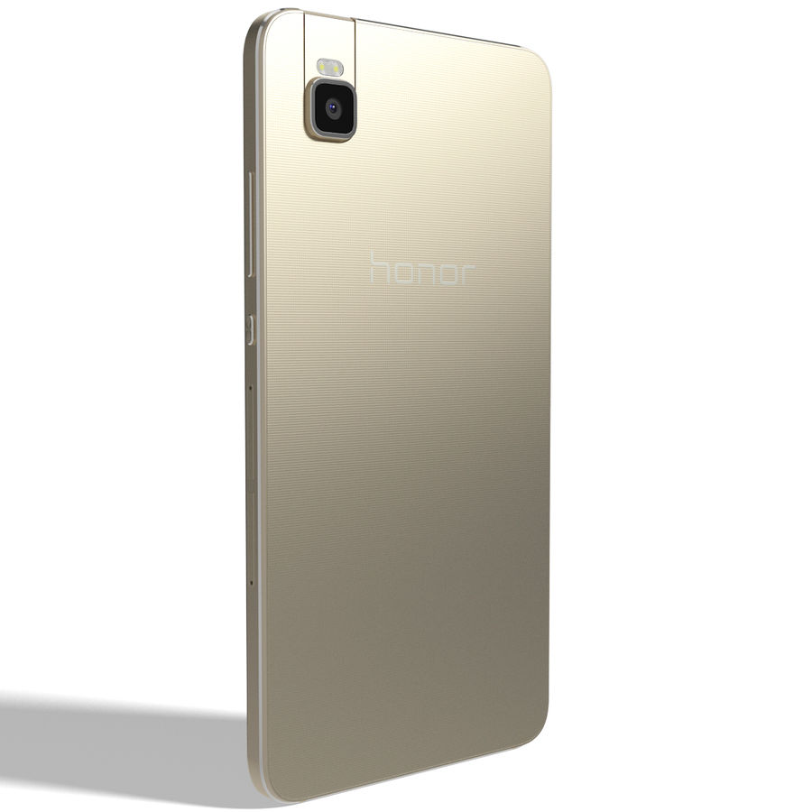 Huawei Honor 7i Gold royalty-free 3d model - Preview no. 4