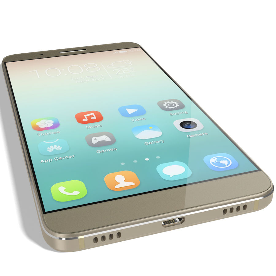 Huawei Honor 7i Gold royalty-free 3d model - Preview no. 12