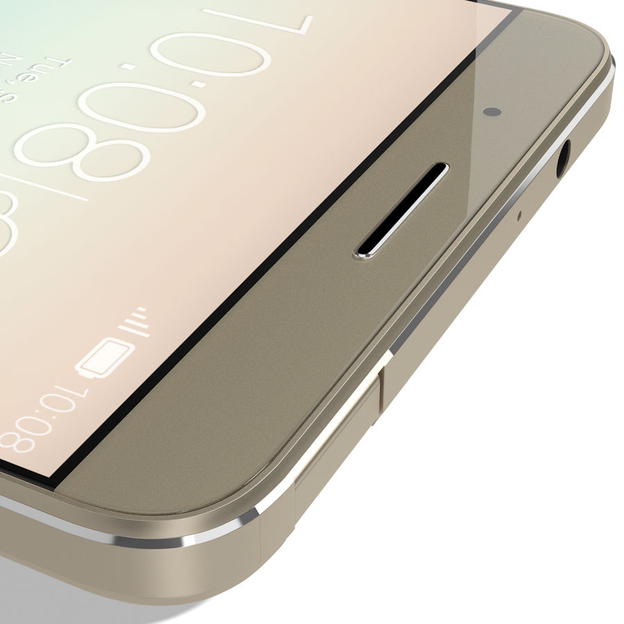 Huawei Honor 7i Gold royalty-free 3d model - Preview no. 18