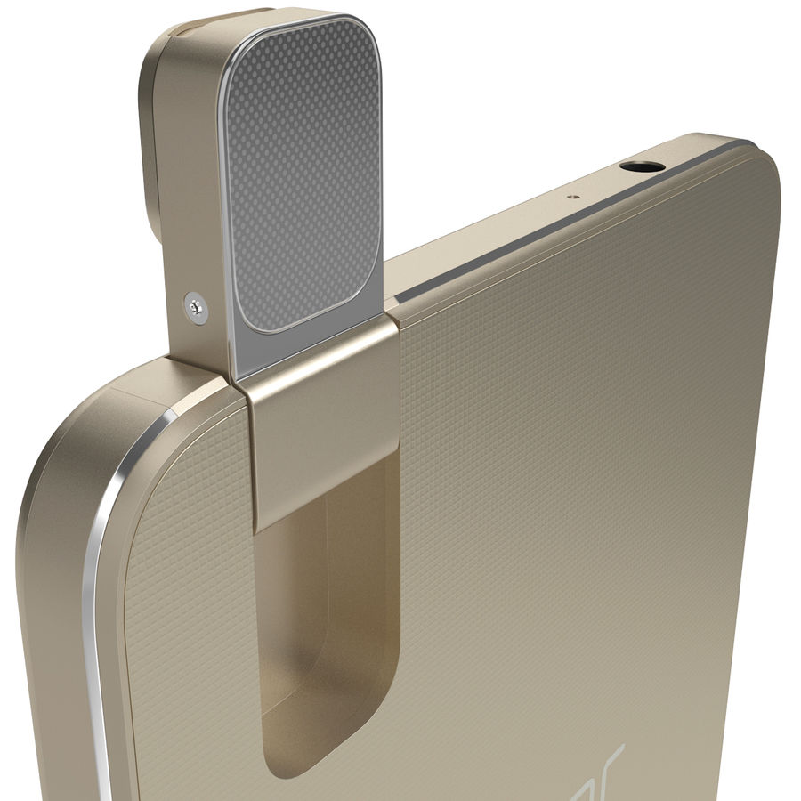 Huawei Honor 7i Gold royalty-free 3d model - Preview no. 7