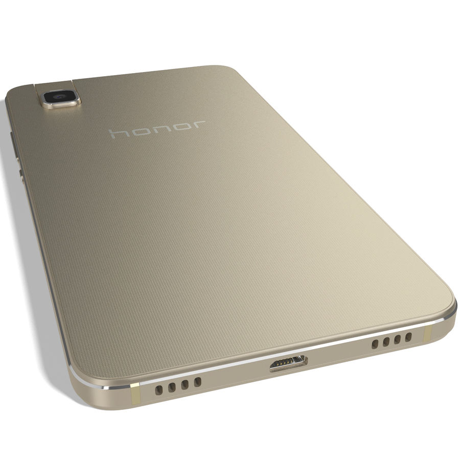 Huawei Honor 7i Gold royalty-free 3d model - Preview no. 10