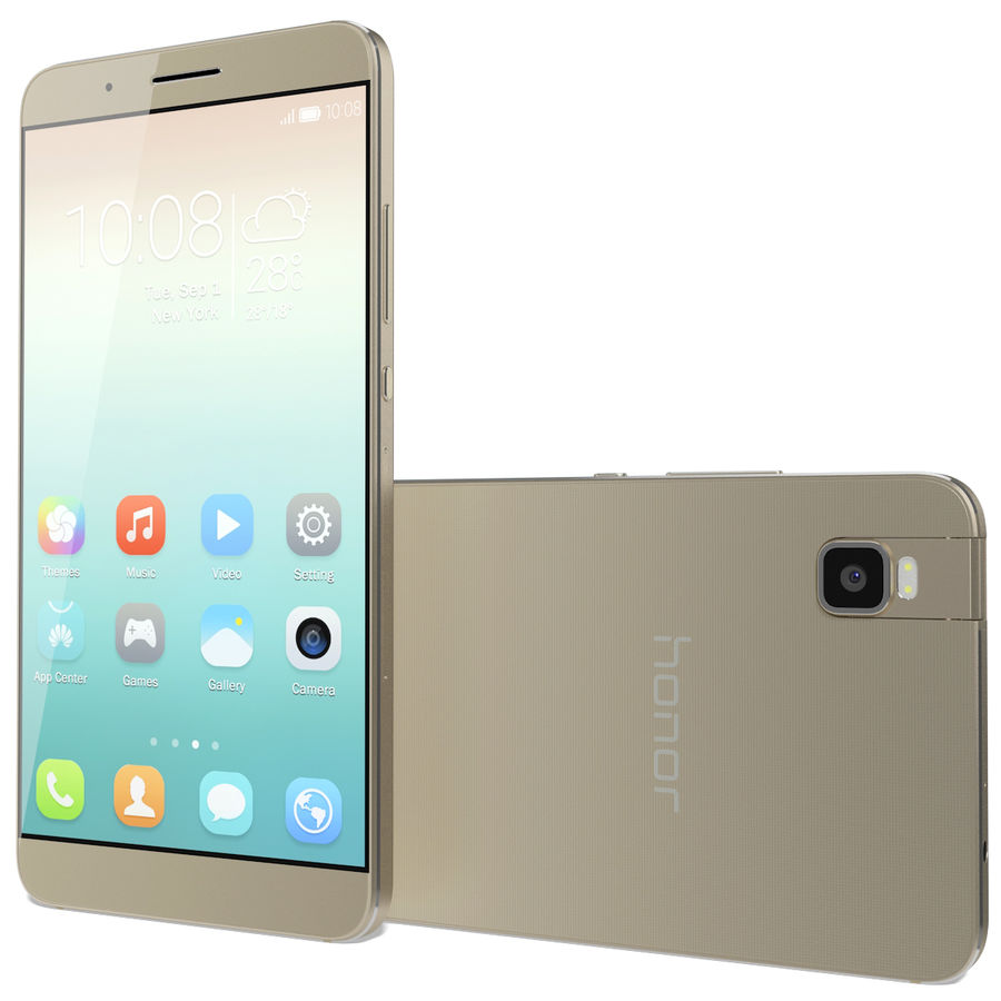 Huawei Honor 7i Gold royalty-free 3d model - Preview no. 3