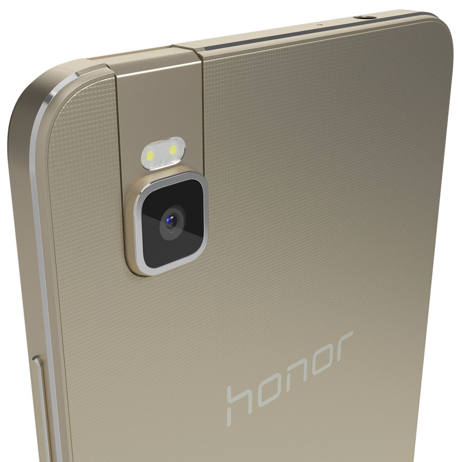 Huawei Honor 7i Gold royalty-free 3d model - Preview no. 6