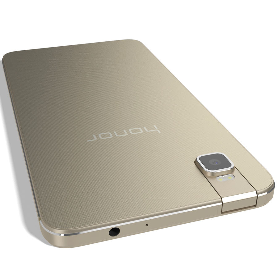 Huawei Honor 7i Gold royalty-free 3d model - Preview no. 9