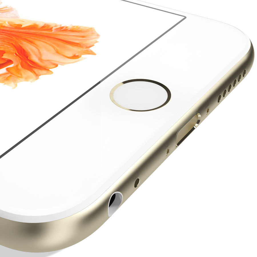 Apple iPhone 6s Złoty royalty-free 3d model - Preview no. 17