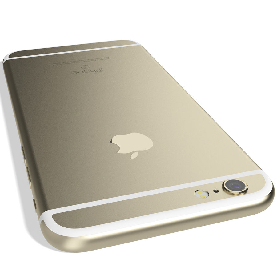 Apple iPhone 6s Złoty royalty-free 3d model - Preview no. 9