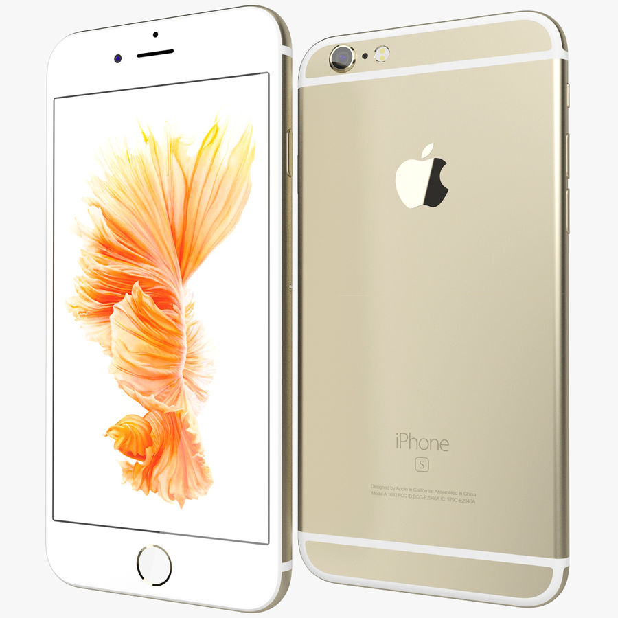 Apple iPhone 6s Złoty royalty-free 3d model - Preview no. 1