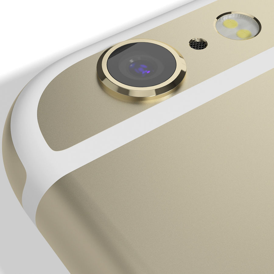 Apple iPhone 6s Złoty royalty-free 3d model - Preview no. 15