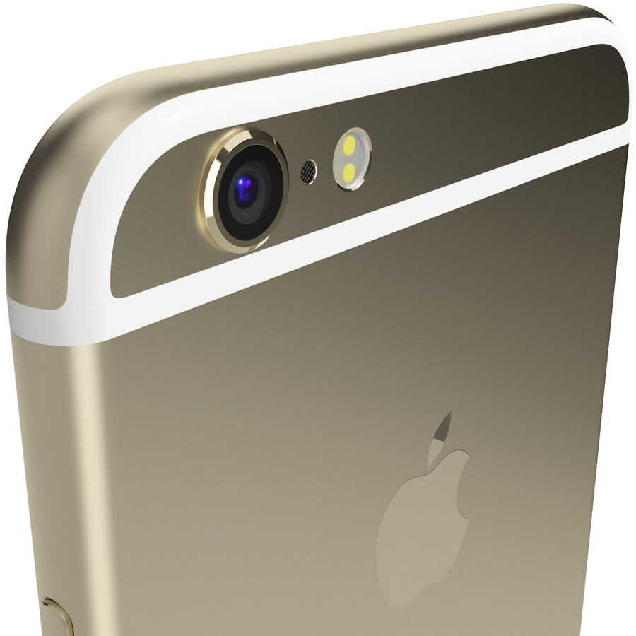 Apple iPhone 6s Złoty royalty-free 3d model - Preview no. 8