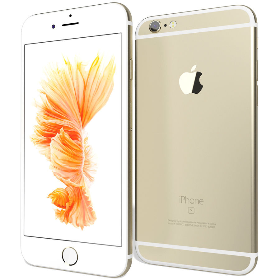 Apple iPhone 6s Złoty royalty-free 3d model - Preview no. 3