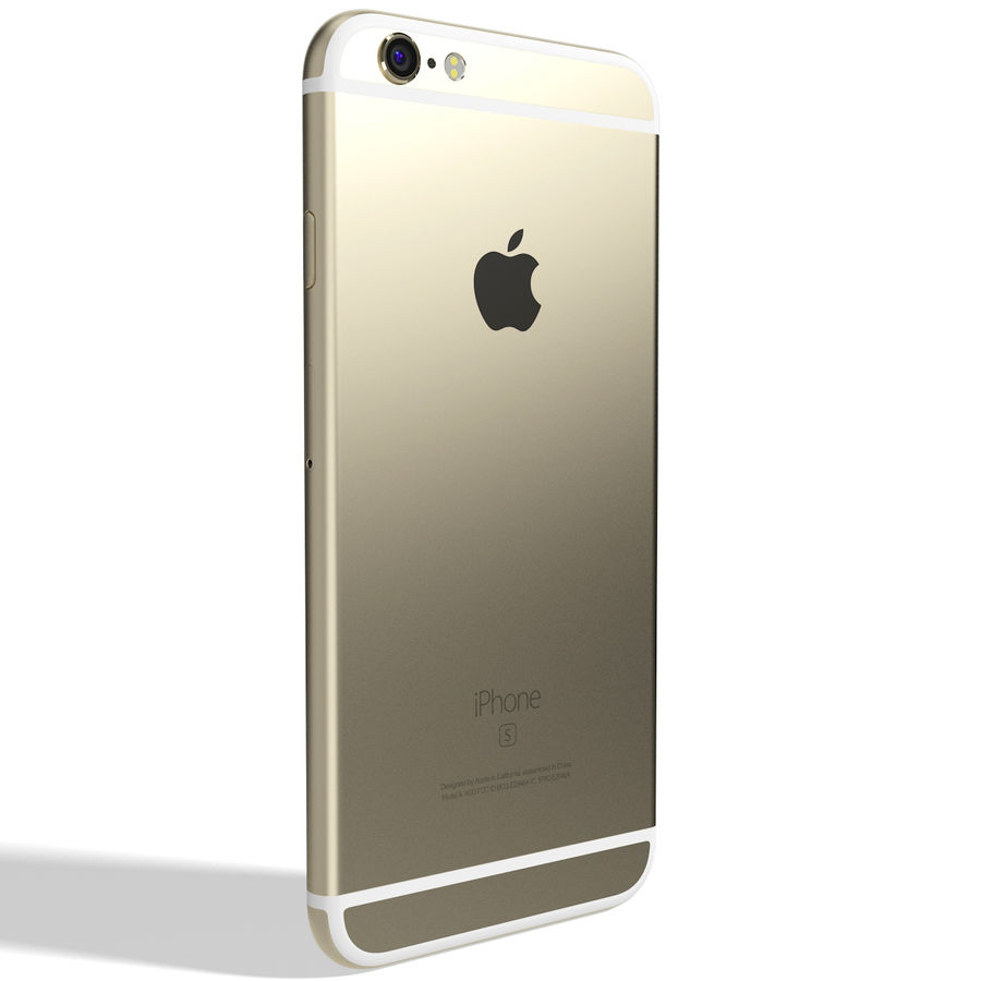 Apple iPhone 6s Złoty royalty-free 3d model - Preview no. 6