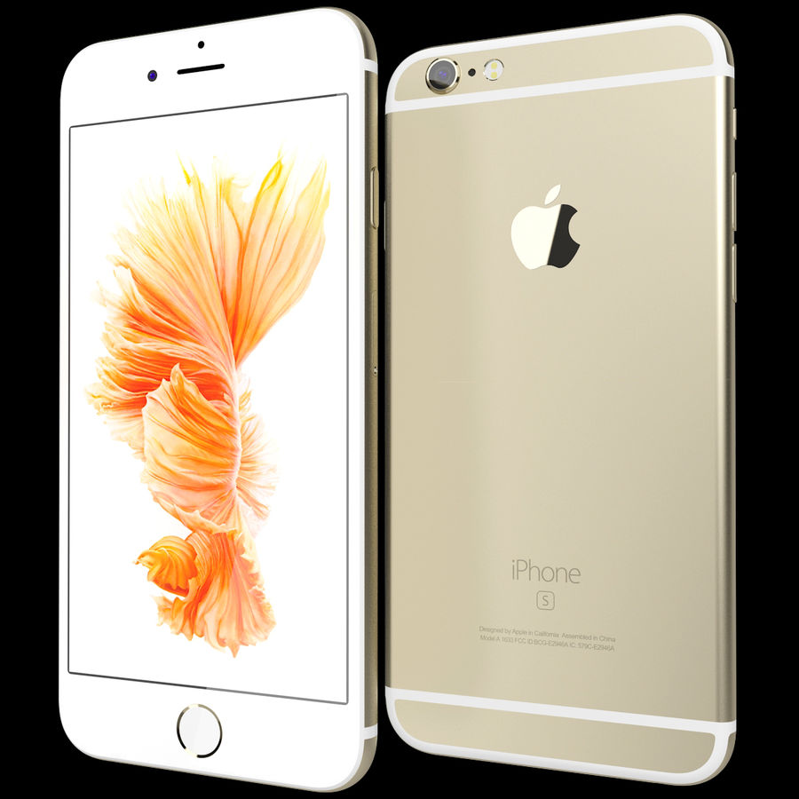 Apple iPhone 6s Złoty royalty-free 3d model - Preview no. 2
