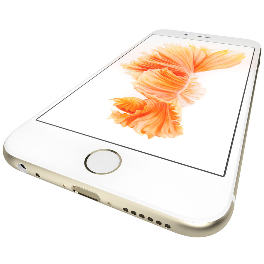 Apple iPhone 6s Złoty royalty-free 3d model - Preview no. 14