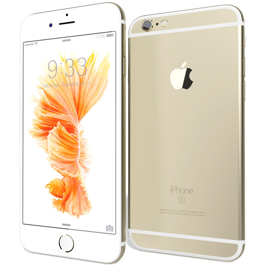 Apple iPhone 6s Złoty royalty-free 3d model - Preview no. 4