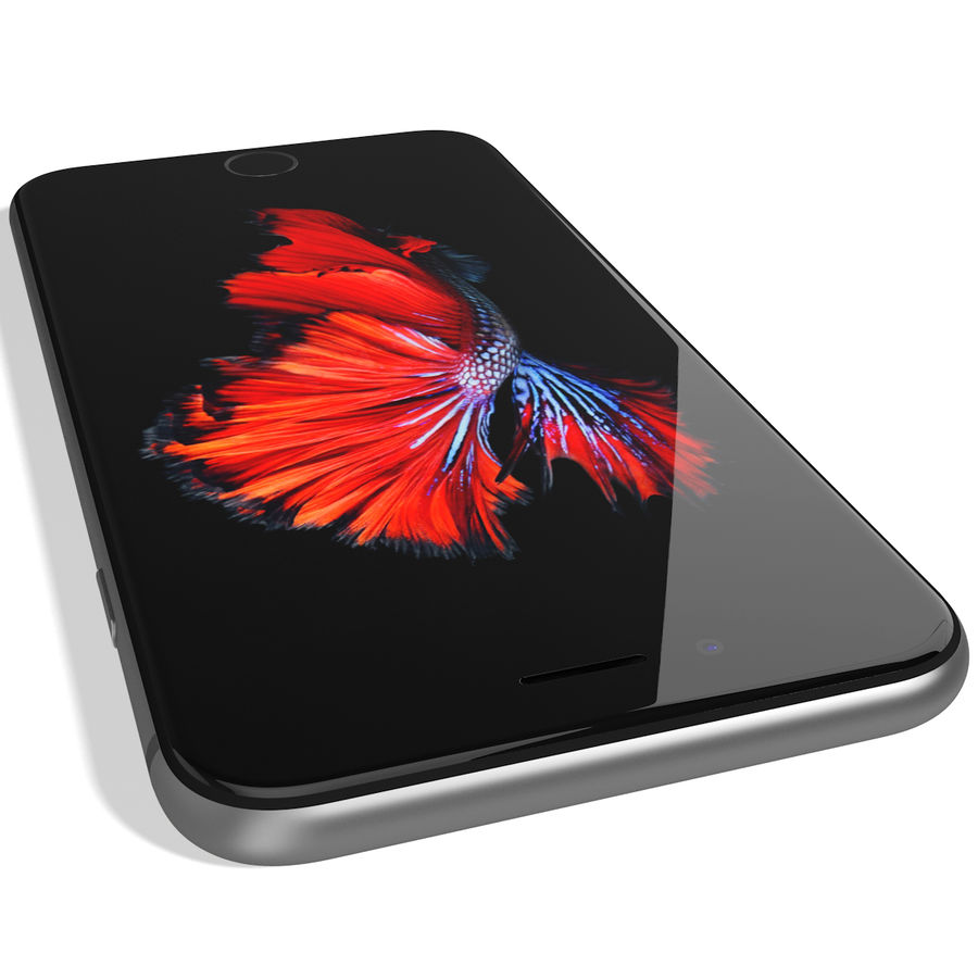 Apple iPhone 6s Espaço Cinzento royalty-free 3d model - Preview no. 13