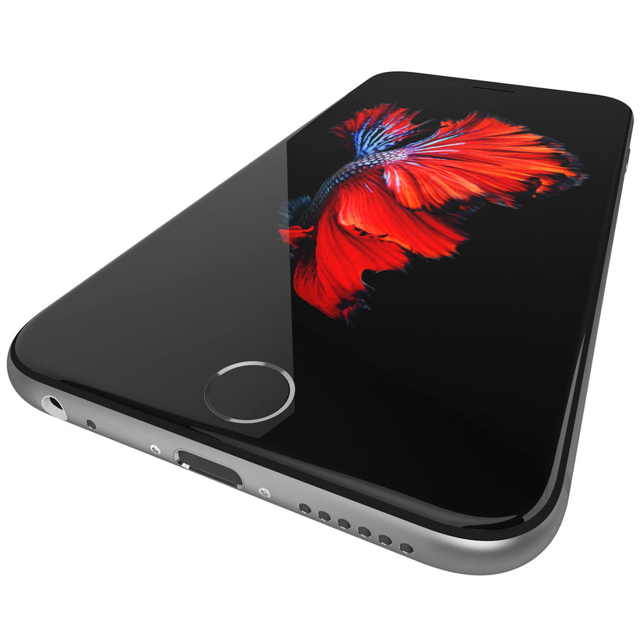 Apple iPhone 6s Space Grey royalty-free 3d model - Preview no. 14